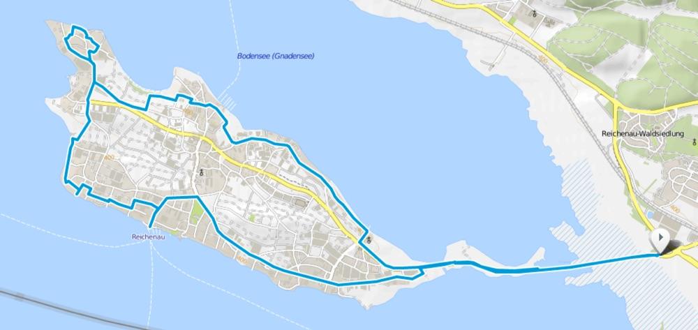 Karte Radweg Reichenau