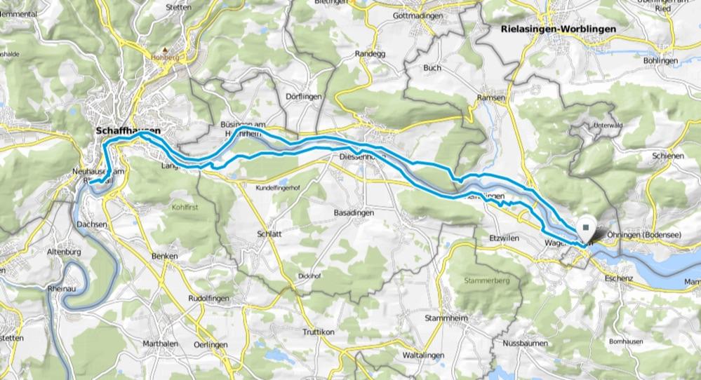 Karte Stein am Rhein Schaffhausen