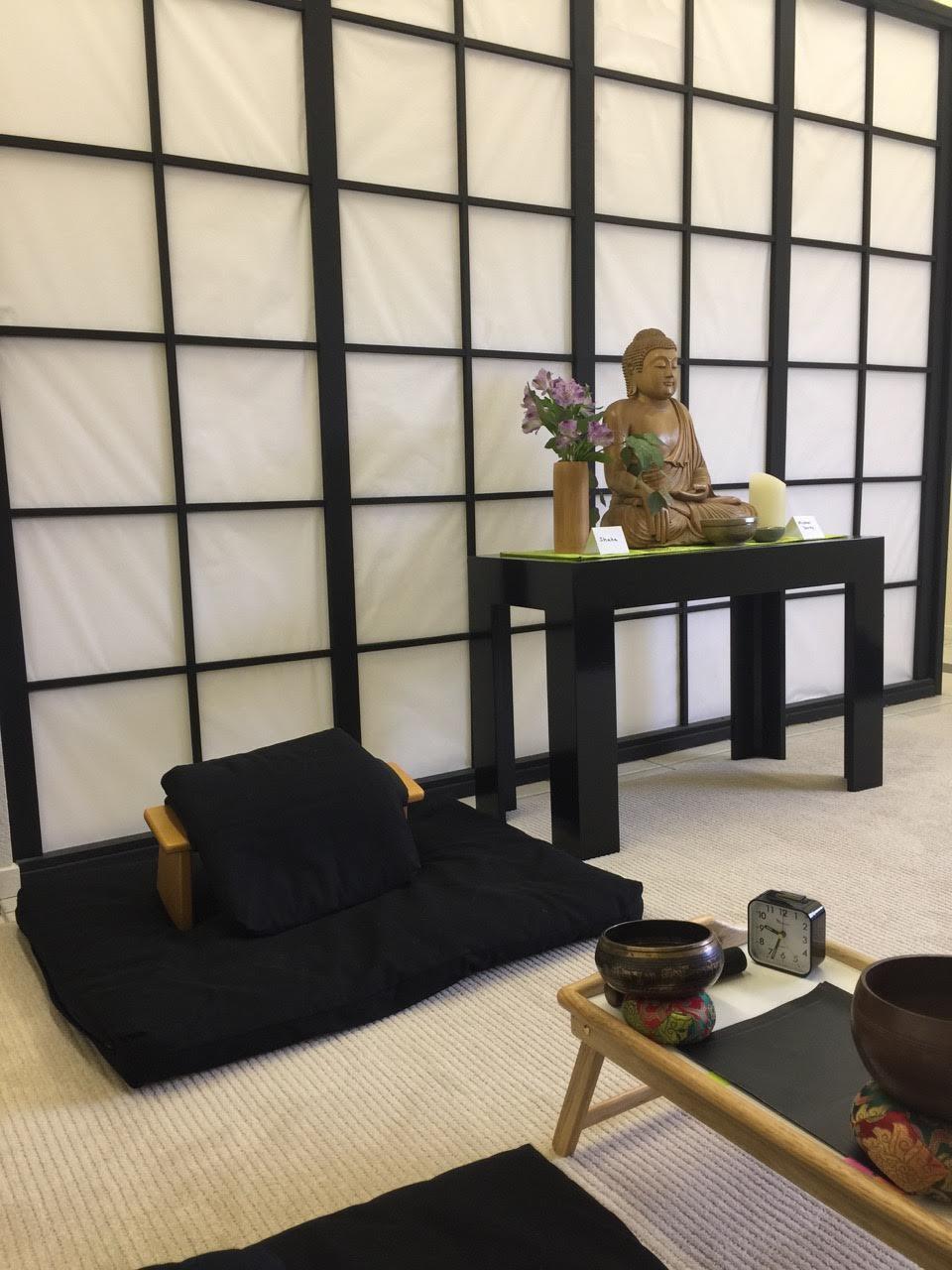 Zen area with Buddha statue