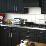 Little sneak-peak of my black kitchen