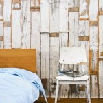 Creating a feature wall with the Scrapwood wallpaper