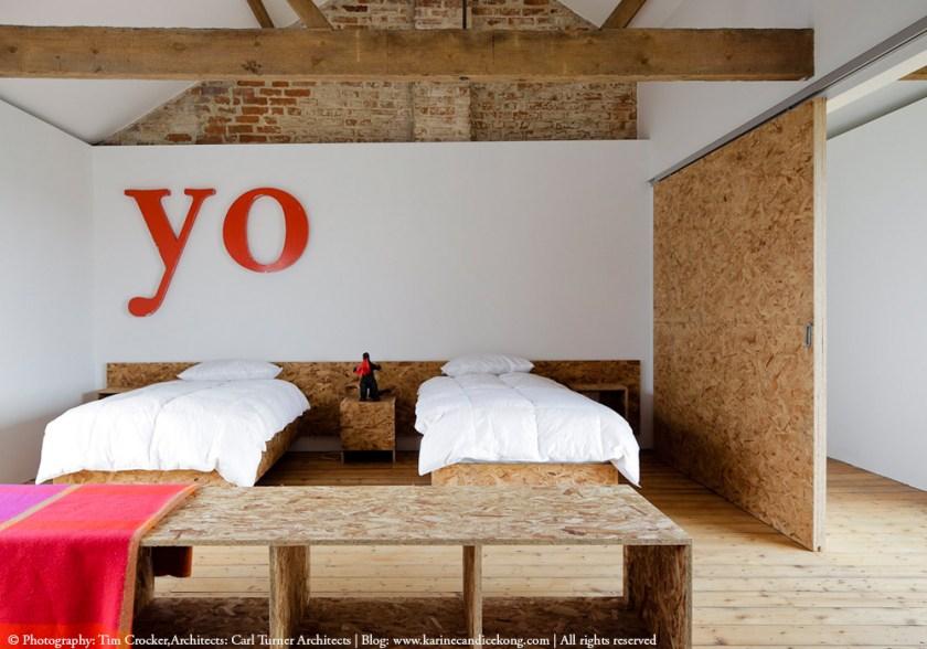 Bedroom in the Ochre Barn