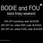 BODIE and FOU Black Friday weekend