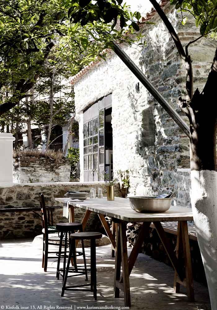 Inspiring outdoor space in Greece