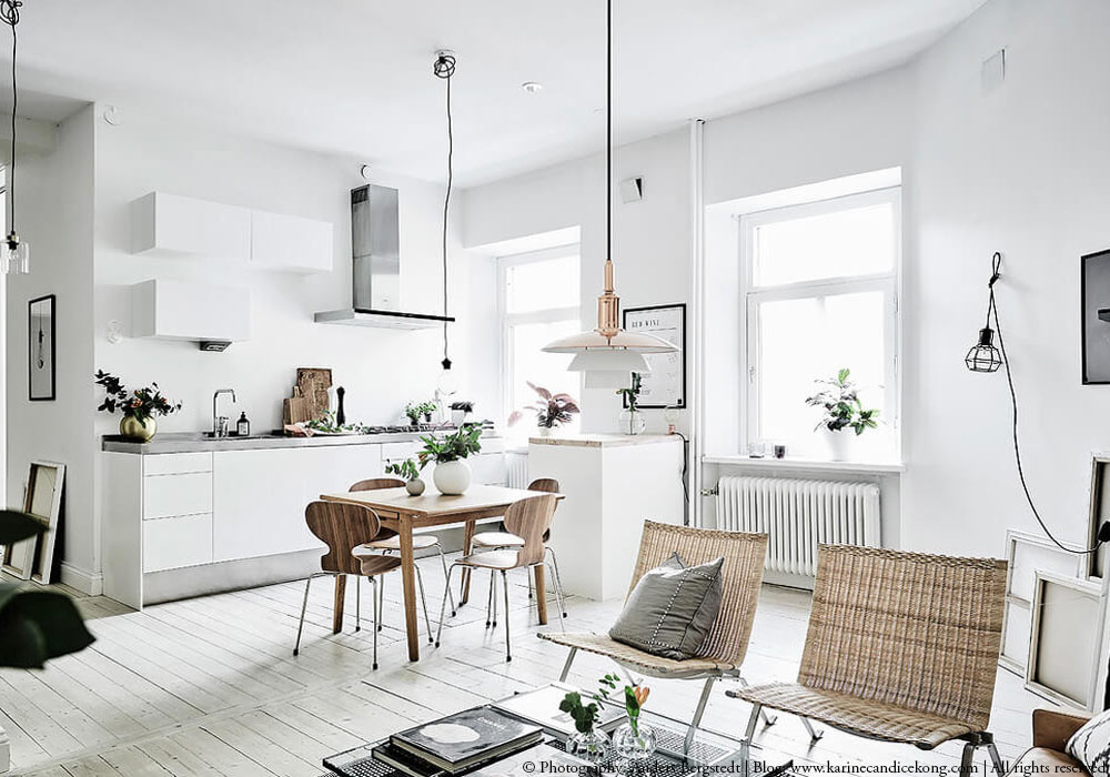 How to get the look: A beautiful white apartment with natural accents