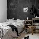 How to use black chalkboard paint in the bedroom