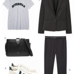 THE EDIT: Black suit & Veja trainers