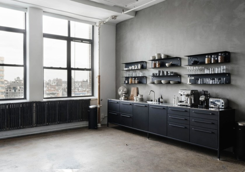 Vipp kitchen in a Manhattan creative agency