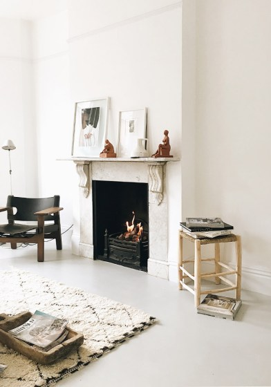 How to warm up an all-white interior