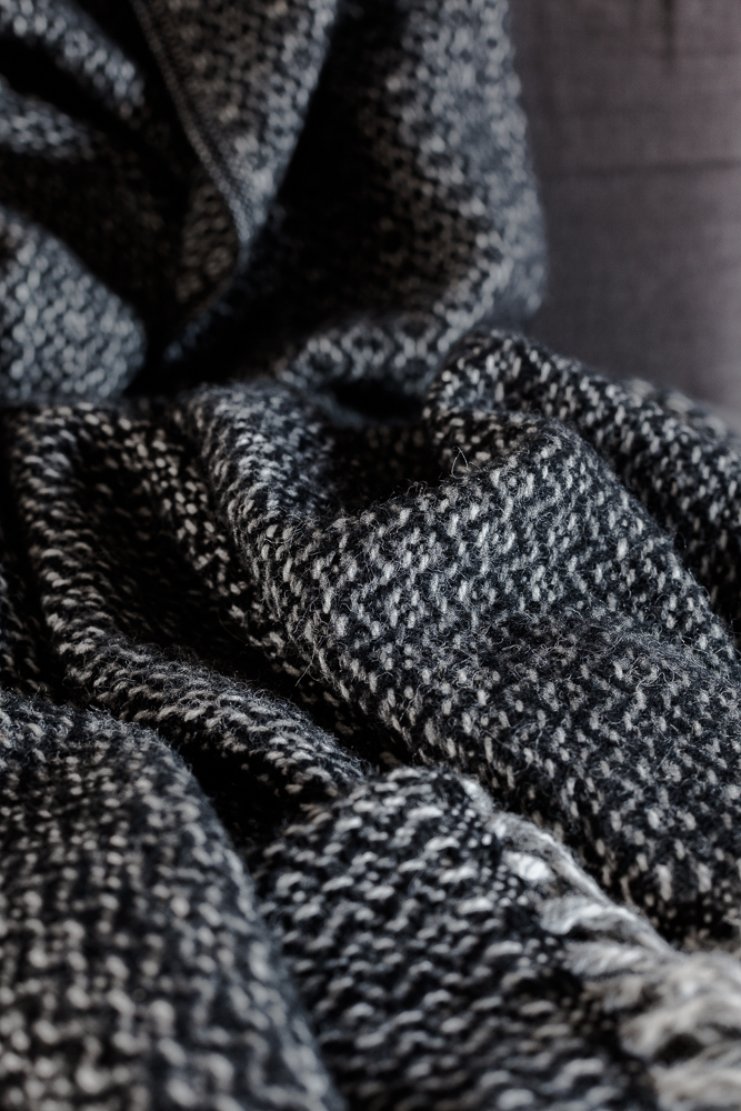 Gorgeous woollen throw from Murmur