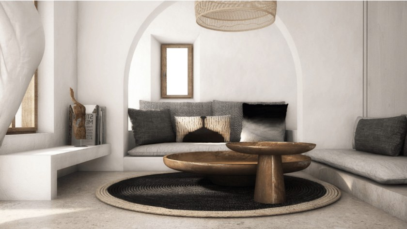 A muted tones residence in Mykonos