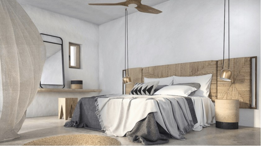 A natural tones residence in Mykonos