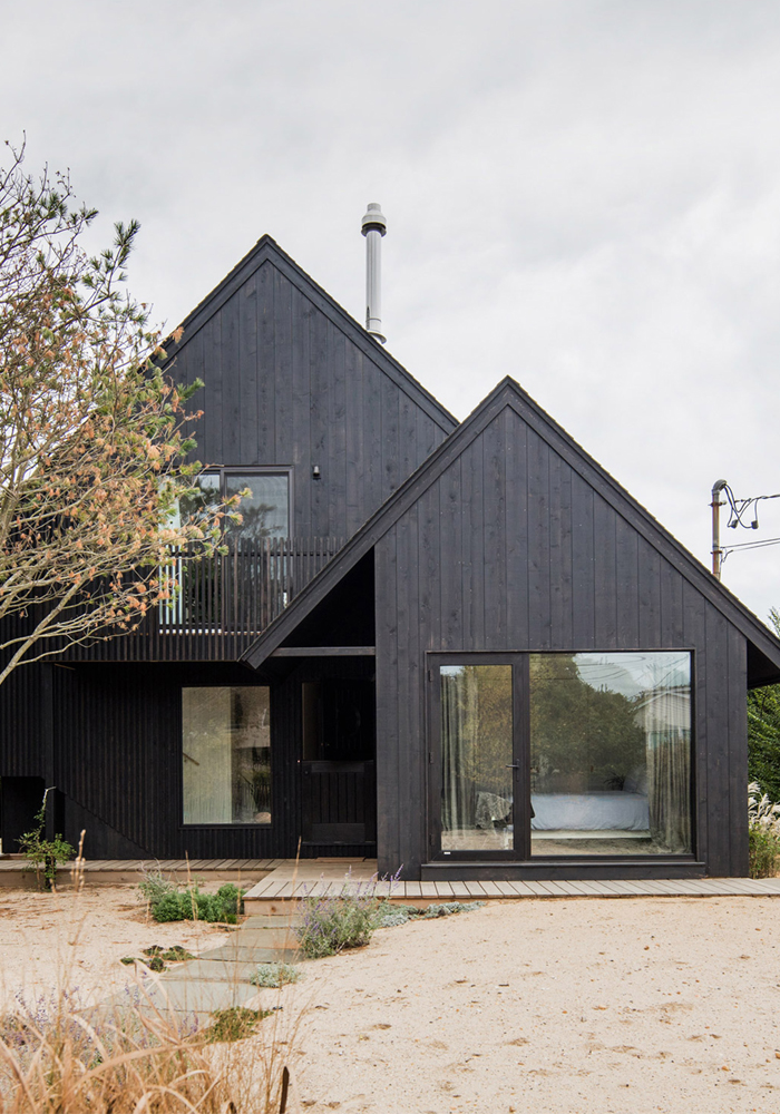 A black surf house in Montauk