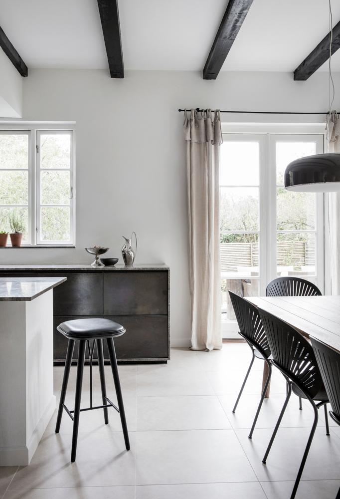 Neutral tones in the home of Kaja Møller, head of Danish furniture brand Fredericia