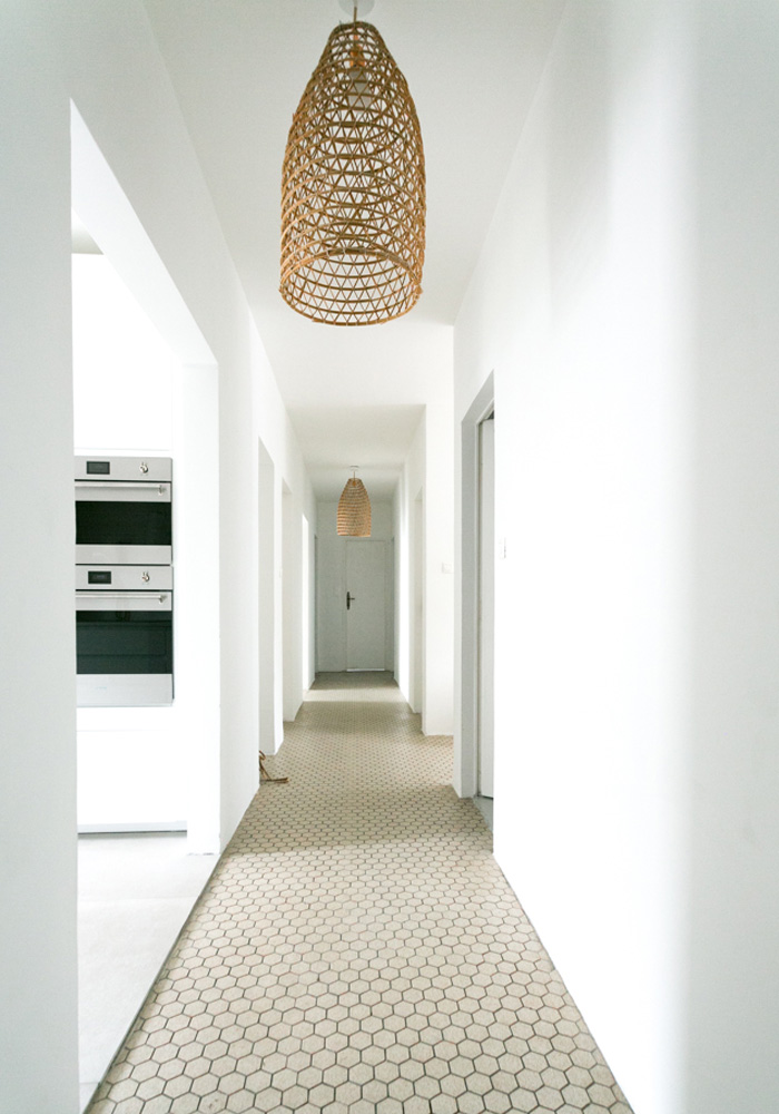Our minimalist, beachy hallway makeover