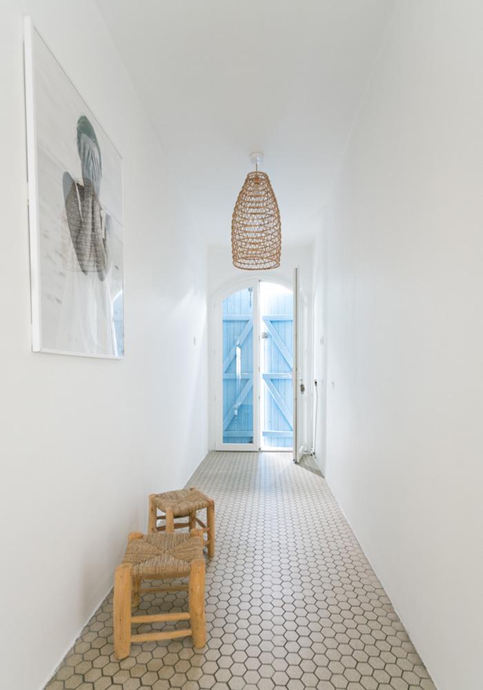 Our minimalist, beachy hallway makeover