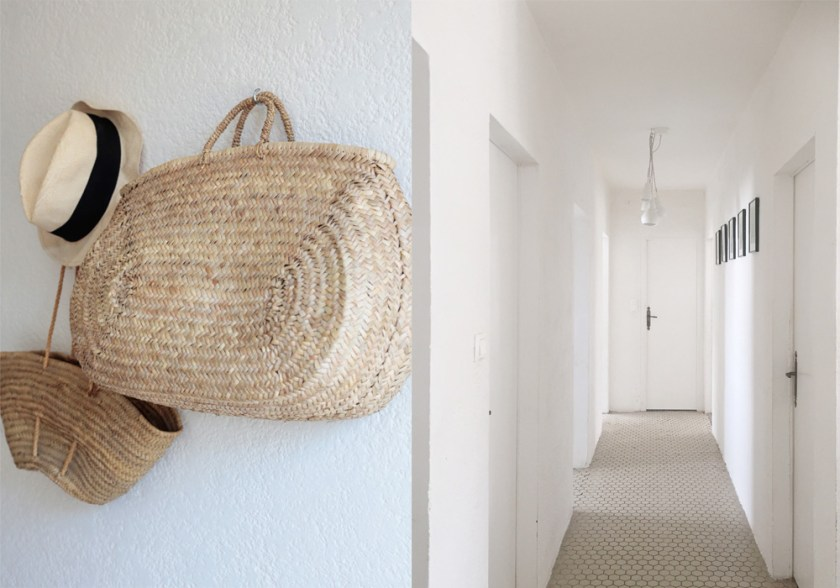BEFORE & AFTER: Our minimalist, beachy hallway makeover