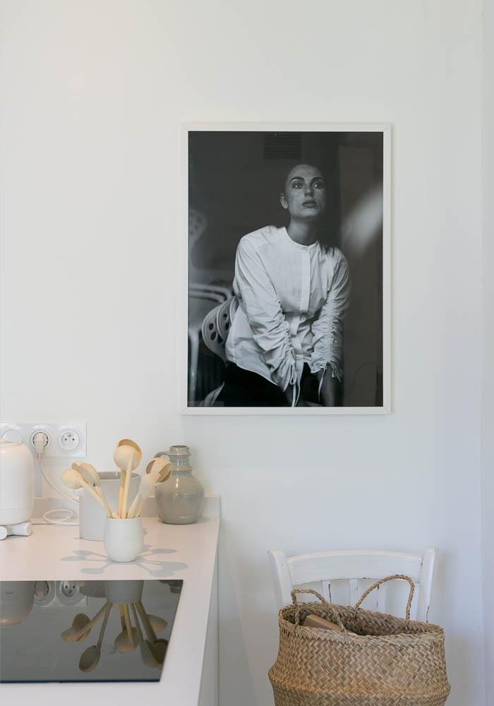 Relooking d'une cuisine blanche, minimaliste & moderne
