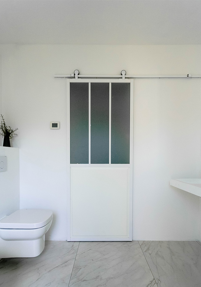 before & after, a white bathroom makeover