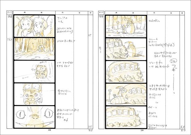 """Storyboard de """"Mon voisin Totoro"""", d'Hayao Miyazaki"""