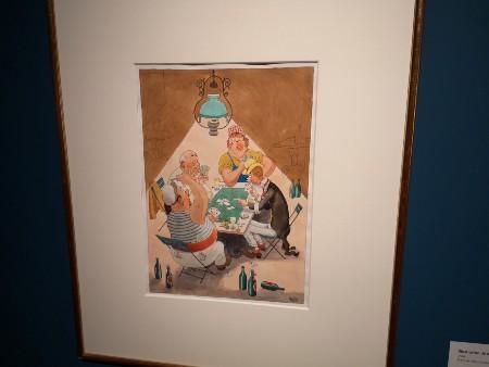 """Albert Dubout, dessin pour l'affiche de """"Marius"""""""