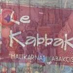 Sign for Le Kabbak Gourd Shop Bodrum Turkey