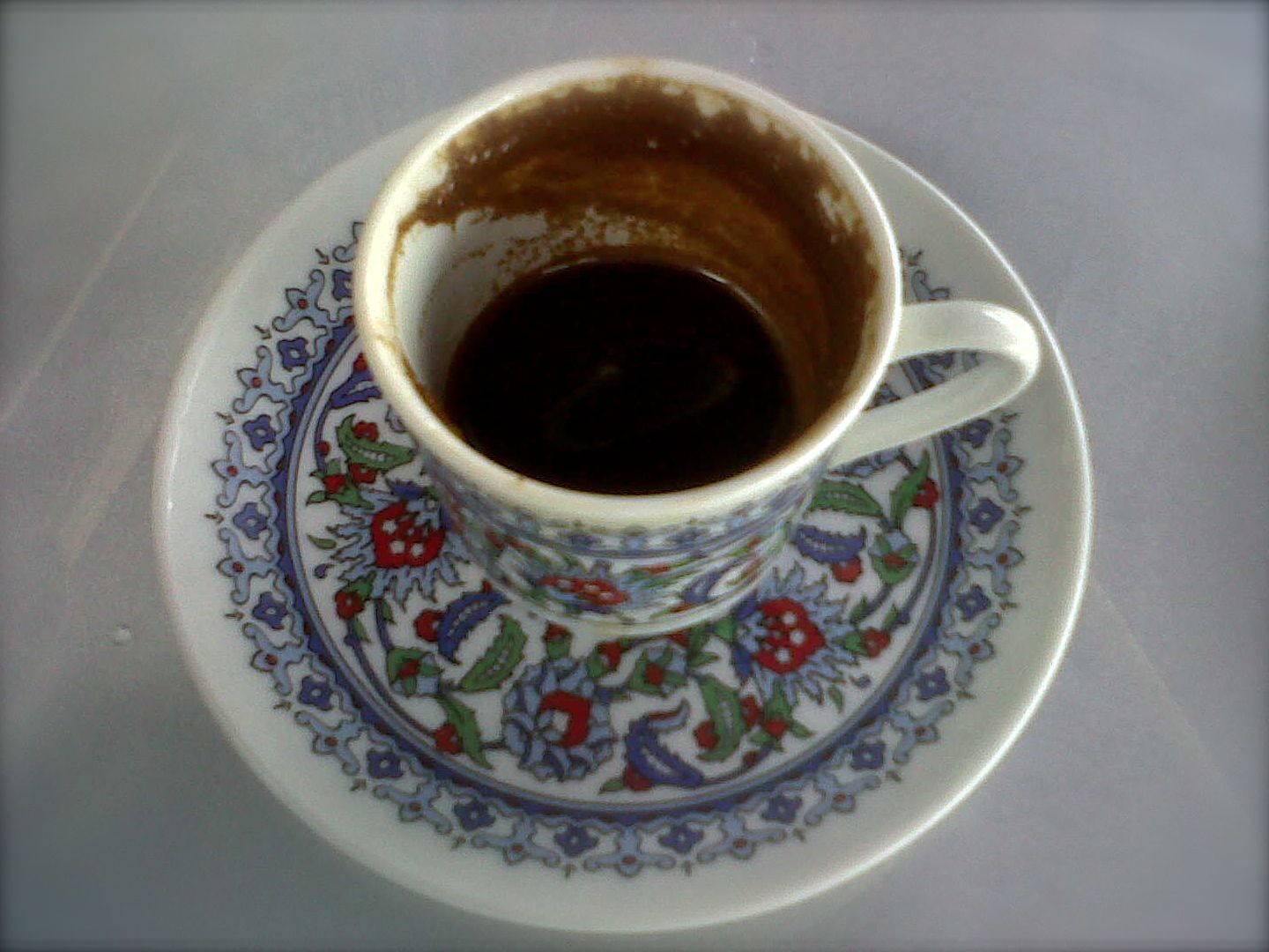 Drinking A Cup Of Turkish Coffee. Old Turkish Proverb
