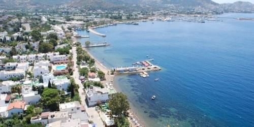 Yalikavak Peninsula Turkey Ariel View