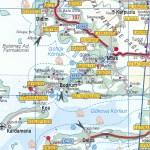 Turkey Bodrum to Kusadasi Map