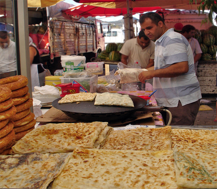 Turkish Street Food near Bodrum Turkey
