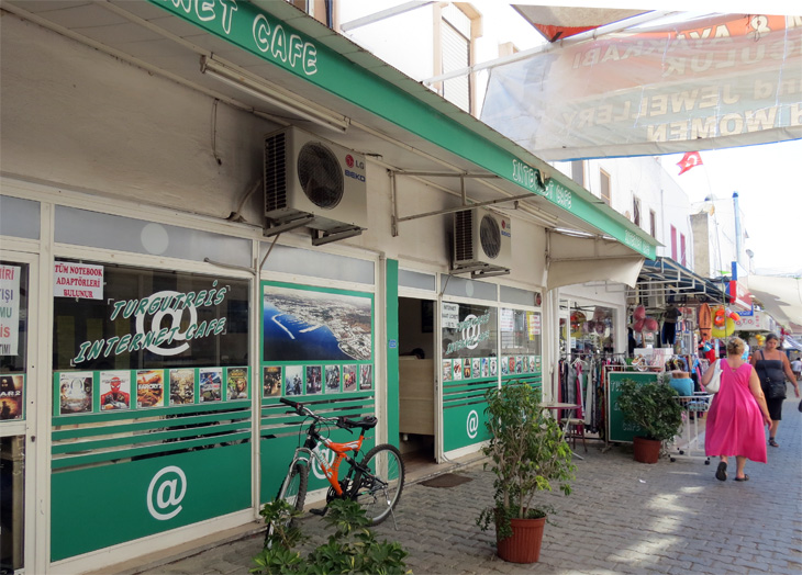 Exterior of Internet Cafe Bodrum Turkey