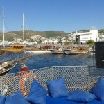 Boat Trip Bodrum View of the Harbour Turkey