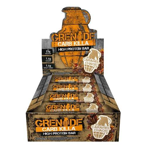 Grenade Carb Killa Bars 12repen Caramel Chaos