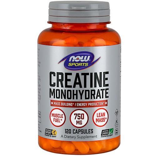 Creatine Monohydraat 750mg Now Foods 120caps