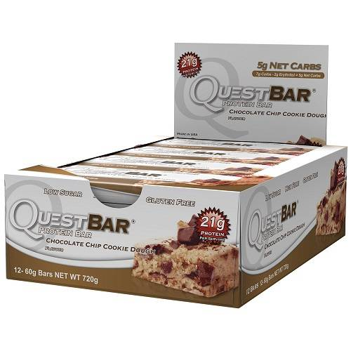 Quest Protein Bars 12repen Chocolate Chip Cookie Dough