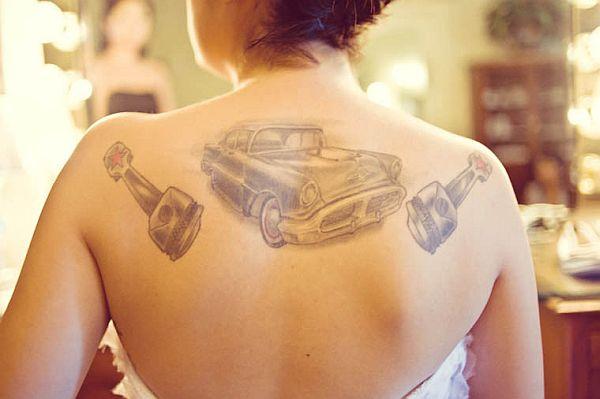 Classic Vintage car tattoos