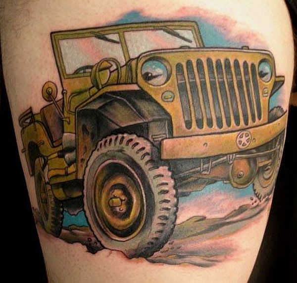 Jeep car tattoos