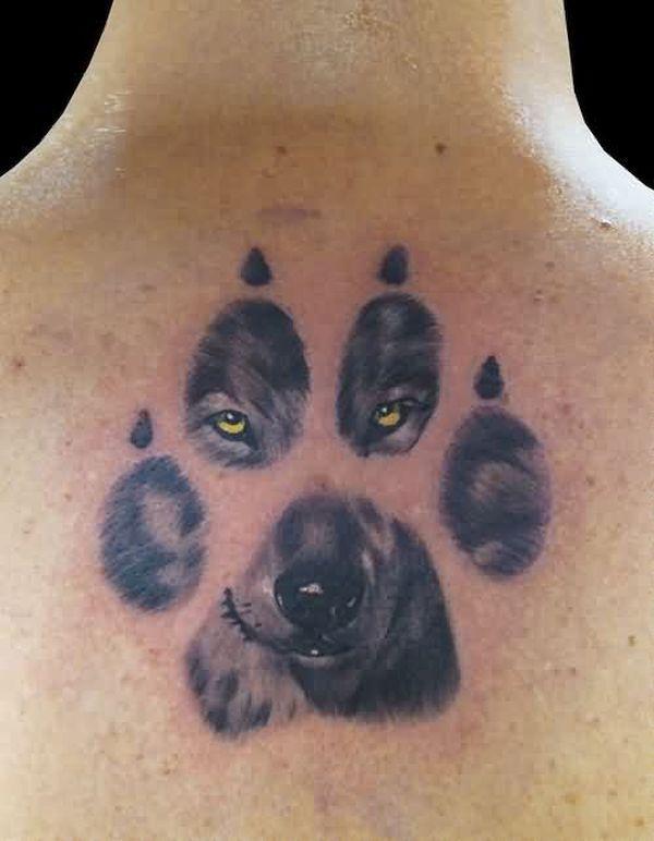 Paw Prints 3D tattoos