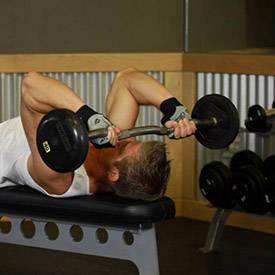 Tríceps tumbado Press
