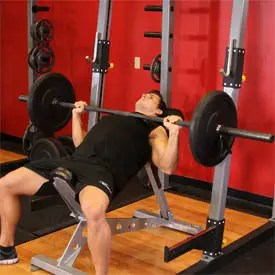 Barbell Incline Bench Press - Grip Medio