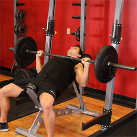 Barbell Bench Incline Press - Grip Medio