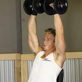 Arnold Press con mancuernas