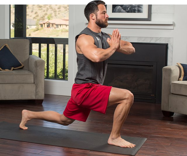 Do yoga once a week.