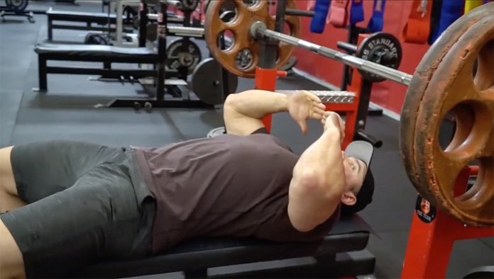 Make sure the barbell is even with your eyes.