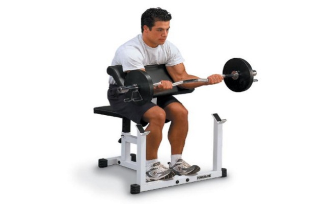 Barbell Preacher Curls