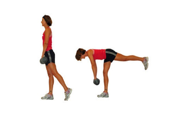 One-Leg Dead Lifts Exercise