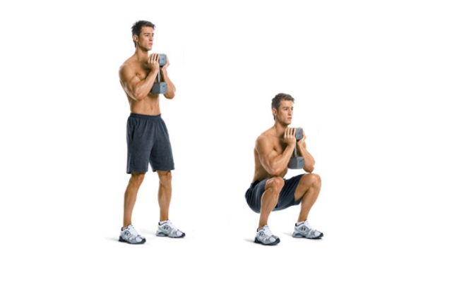 Shoulder Press Squats Exercise