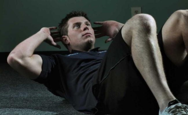 Couch Crunches