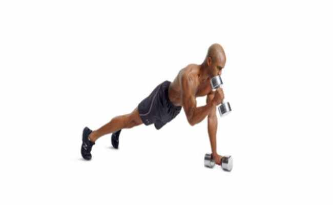 Hammer Curl In Pushup Position