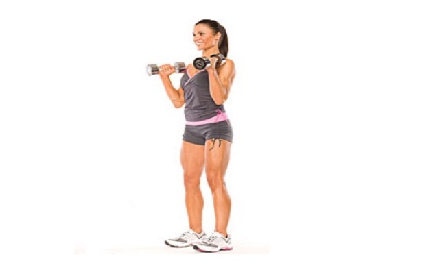 Horizontal Dumbbell Curls